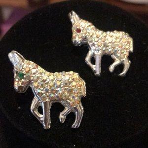 Jewelry - Vintage donkey pins